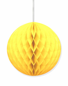 Yellow honeycomb hanging decoration
