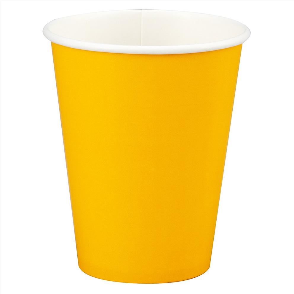 yellow paper cup