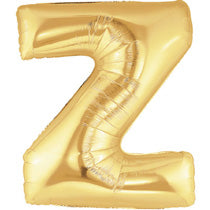 Letter Z Golden Foil Balloon - 40in - PartyMonster.ae