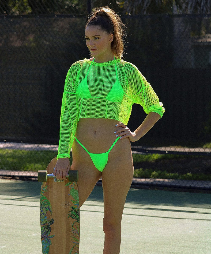 Naomi Top - The Bikini Block - Neon Green