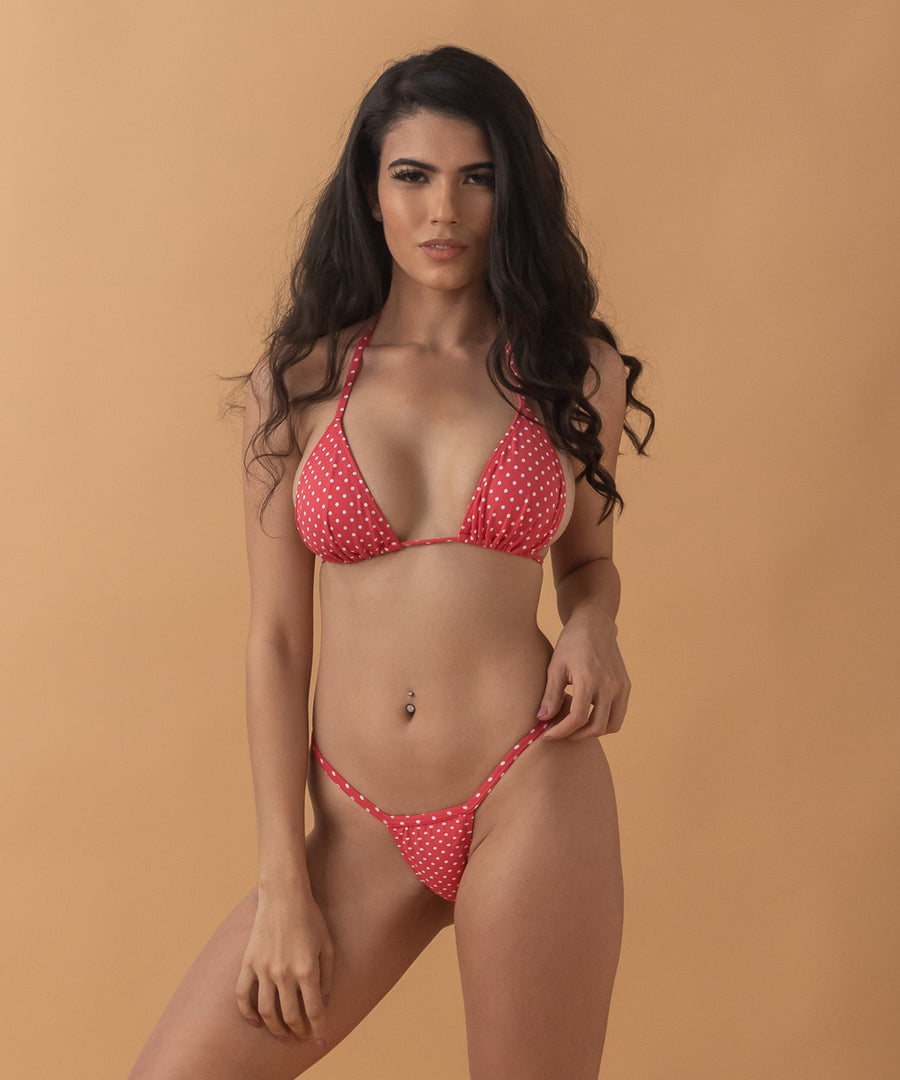 betty bottom - the bikini block - red polka dot