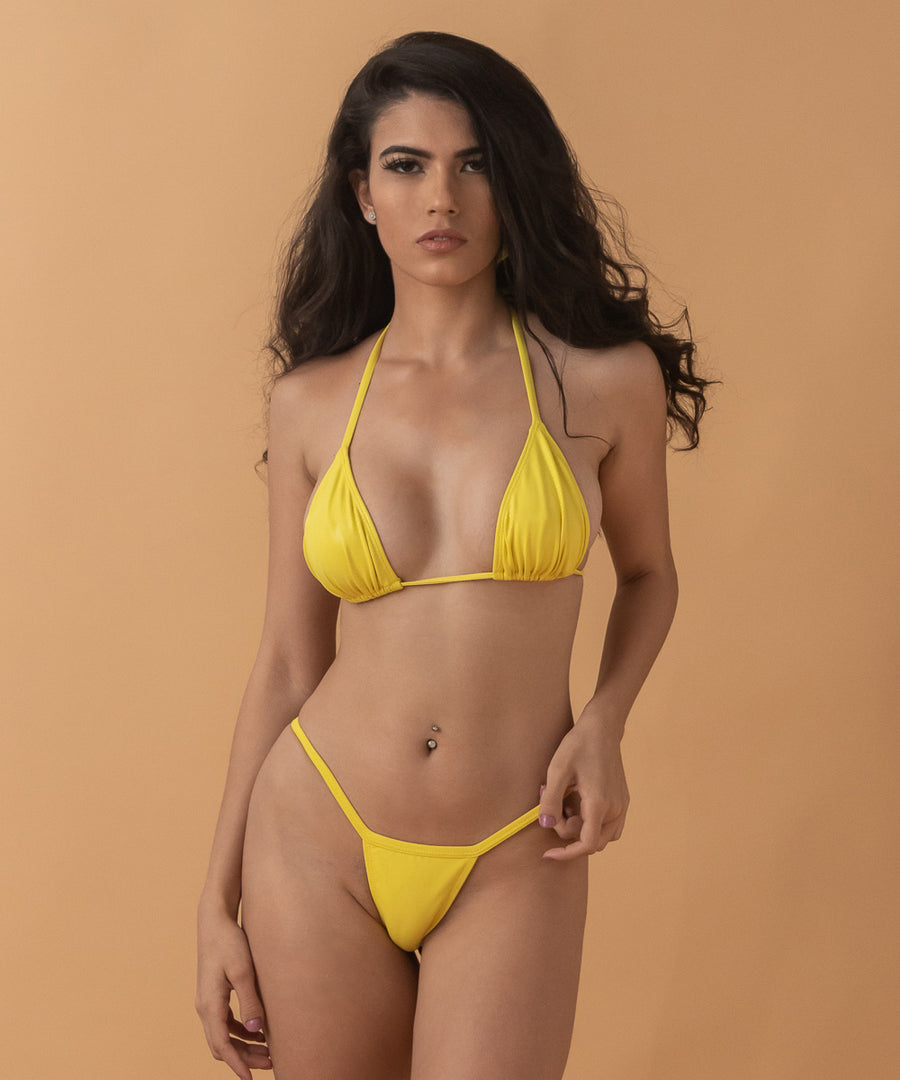 Tanaya Top - The Bikini Block - Yellow