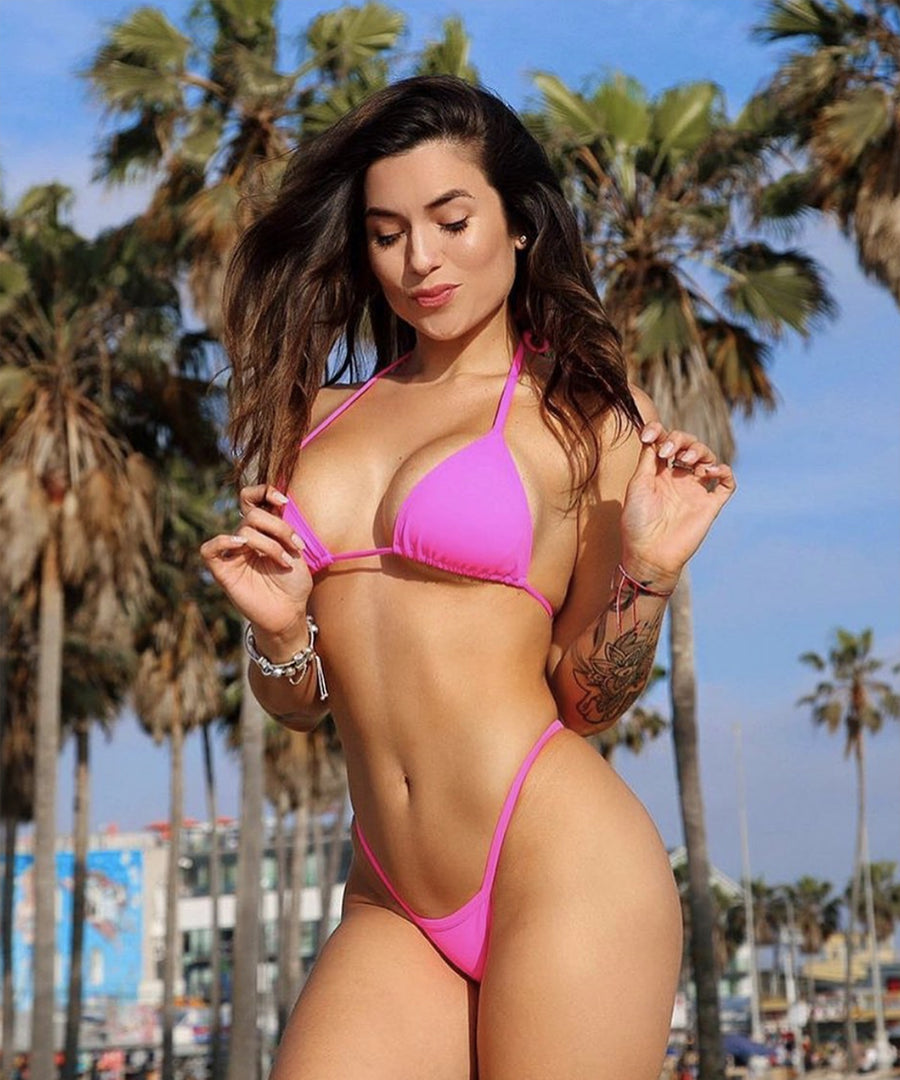 Mandi Bottom - The Bikini Block - Neon Pink