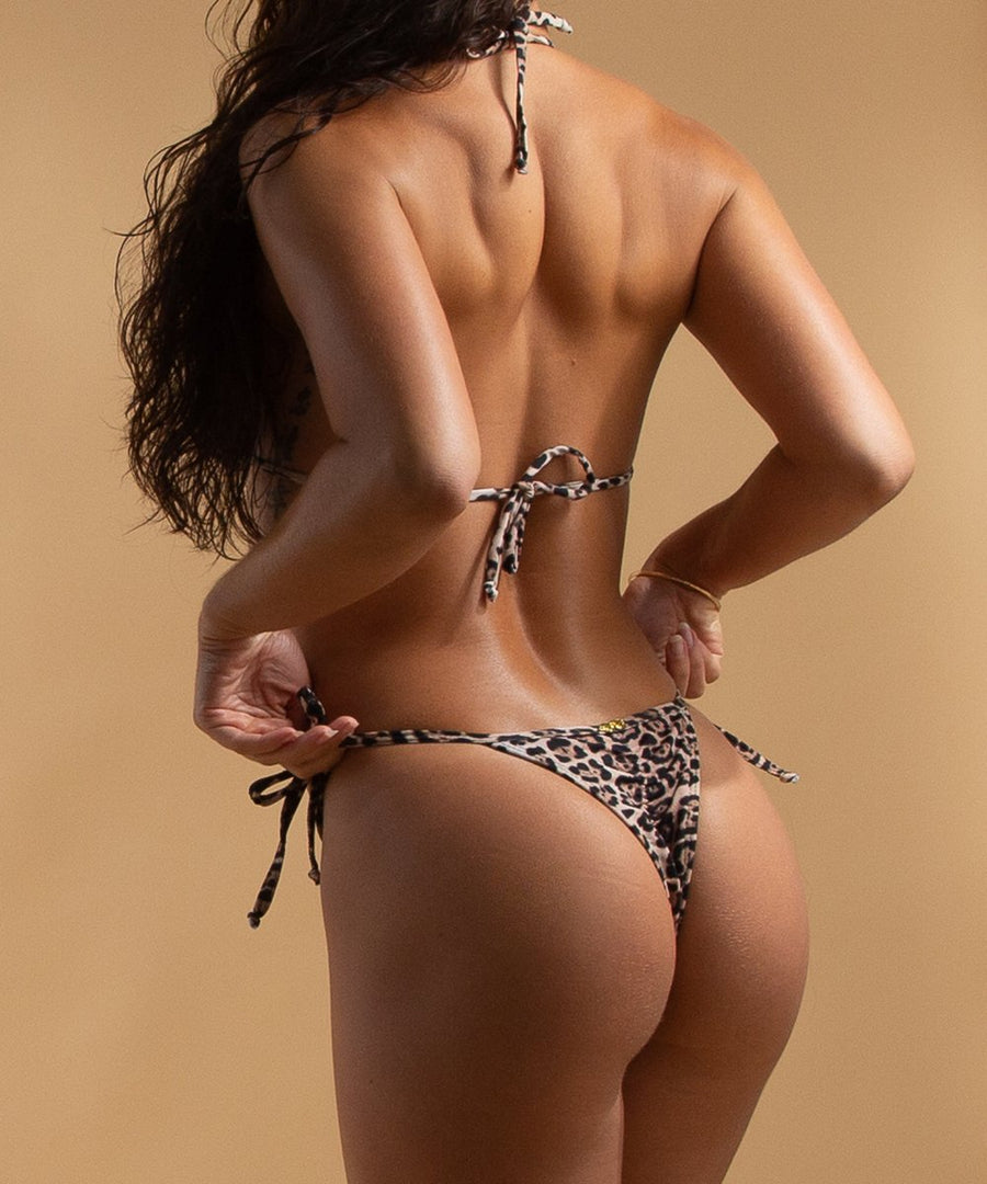 serabi bottoms - the bikini block - leopard print