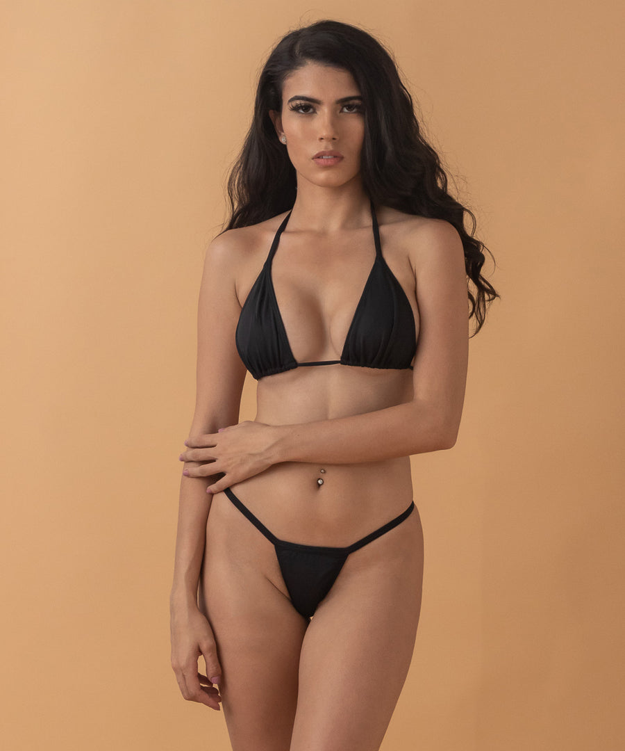 Wednesday Bikini top - the Bikini Block - Black