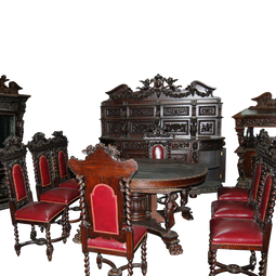 7157 Rj Horner 12 piece Renaissance Revival Dining Set