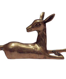 Brass Reclining Deer