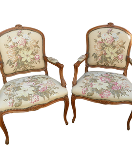 Pair Of French Arm Chairs. 2th Century
