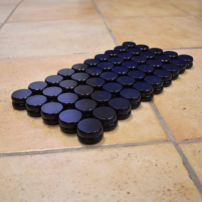Crokinole Canada Crokinole Pieces 100 Black Tournament Size Crokinole Discs