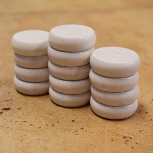Crokinole Canada Crokinole Pieces No Pouch 13 White Tournament Size Crokinole Discs (Half Set)