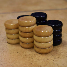 Load image into Gallery viewer, Crokinole Canada Crokinole Pieces No Pouch 26 Tournament Size Crokinole Discs (Natural & Black)