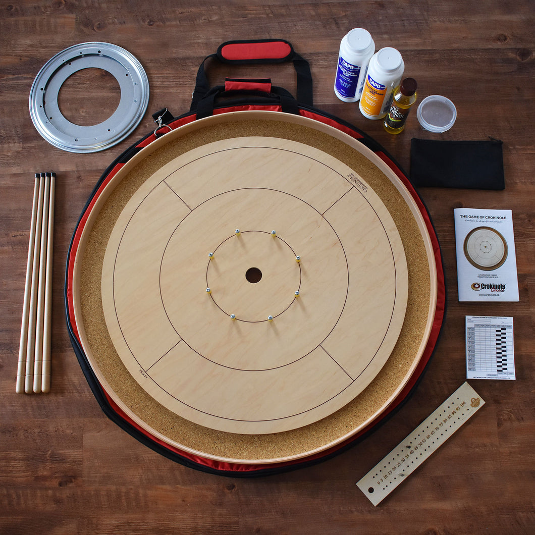 The Standard Tournament Board Crokinole Kit (Meets NCA Standards)