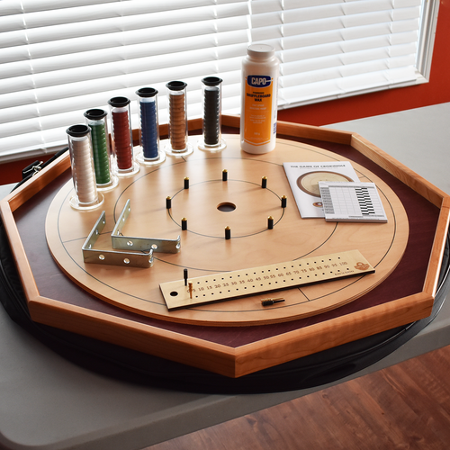 The Baltic Bircher Tournament Crokinole Board Game Kit