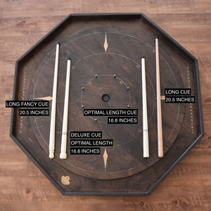 "Deluxe Wooden Crokinole Cue (Optimal Length - 16.8"")"