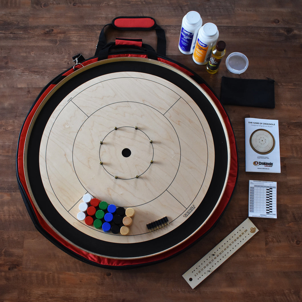 The Championship Crokinole Board Game Kit - Painted Black Ditch