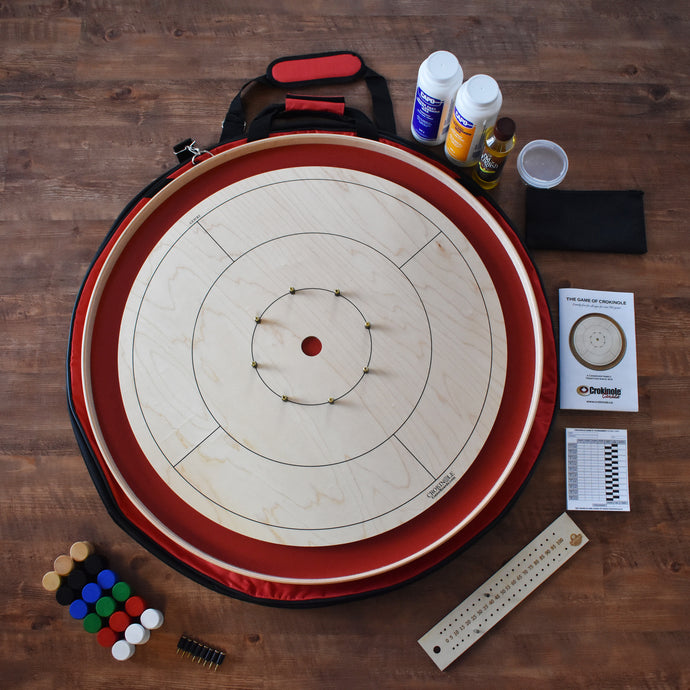The Championship Crokinole Board Game Kit (Meets NCA Standards) - Red Ditch