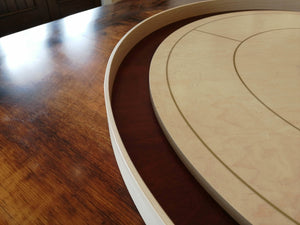 Birds Eye Beauty - Tournament Size Crokinole Board Game Set - Stained Dark Maple Ditch - Birds Eye Maple Surface & Canadian Maple Side Rails