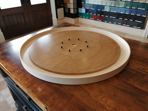 The Outback - Tournament Size Crokinole Board Game Set - Canadian Maple Surface & Side Rails