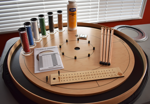 Premium Crokinole Kit - The Championship Board (Meets NCA Standards) - Black Ditch