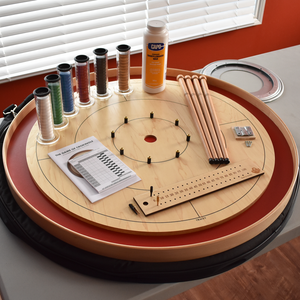 Premium Crokinole Kit - The Championship Board (Meets NCA Standards) - Red Ditch