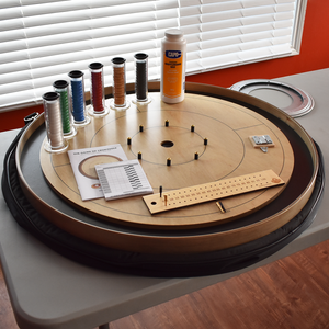 Premium Crokinole Kit - The Championship Board (Meets NCA Standards) - Gray Rock