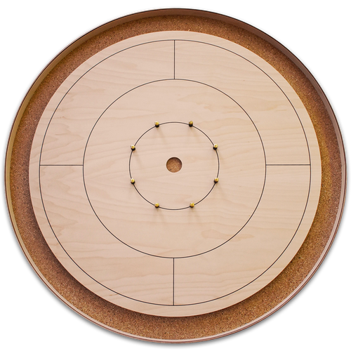 The World Famous Tournament Crokinole Board Game Set - Meets NCA Standards
