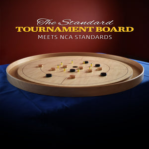 The Standard Tournament Crokinole Board Game Set (Meets NCA Standards)