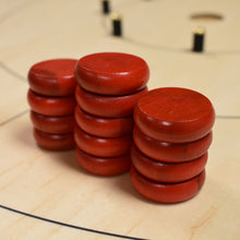 Load image into Gallery viewer, 13 Red Tournament Size Crokinole Discs (Half Set) - DISCOUNTED