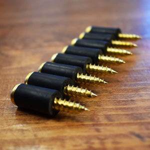 Crokinole Bumpers - 8 Brass Screws With Rubber Latex