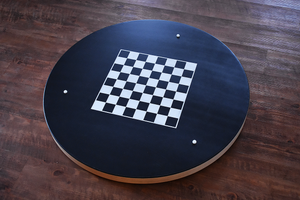 Balloons - Crokinole Canada Board - Tournament Size - Point Numbers & Checkers on Back - Smooth Painted Ditch & Back - Authentic Canadian Maple