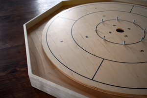 The Classic Board - Traditional Size Crokinole Board Game Set