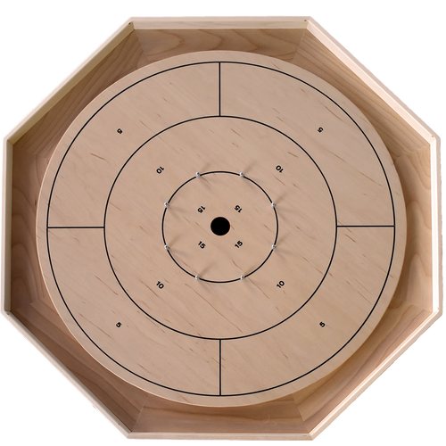 The Classic Traditional Crokinole Board Game Set