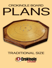 Load image into Gallery viewer, Traditional Size Crokinole Board Plans