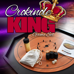 The Crokinole King - Traditional Size Crokinole Board Game Set - 3 In 1 Crokinole Game Set