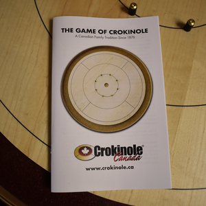 The Championship Crokinole Board Game Set - Painted Red Ditch - Canadian Maple Surface & Side Rails