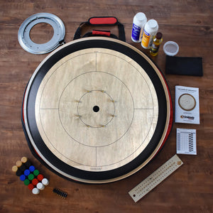 The Championship Crokinole Board Game Kit (Meets NCA Standards) - Gray Rock