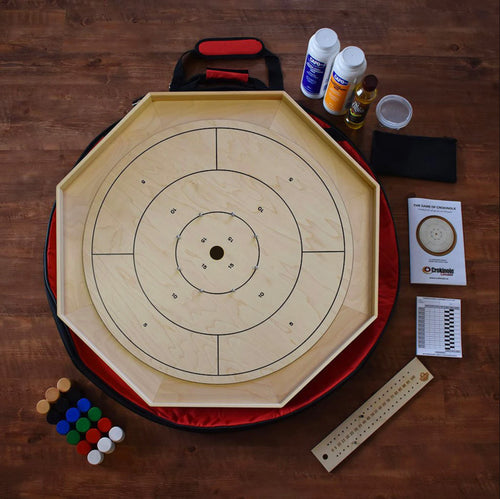 The Classic Traditional Crokinole Board Game Kit