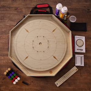 The Crokinole Master Tournament Board Game Kit