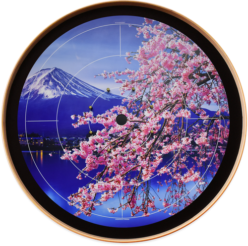 A Japanese Delight - Mount Fuji - Tournament Crokinole Board Game Set - Meets NCA Standards