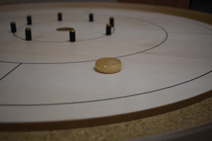 13 Natural Wood Crokinole Discs (Half Set)