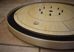 26 Crokinole Discs (Natural & Green)