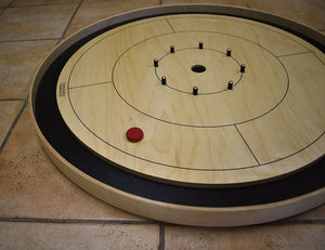 26 Crokinole Discs (Black & Red)
