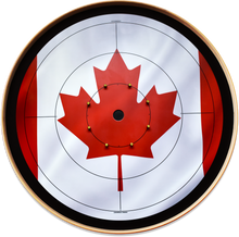 Load image into Gallery viewer, The Canadiana - Crokinole Canada Board Series - Tournament Size (Meets NCA Standards)