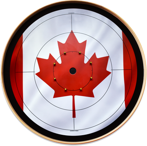 The Canadiana - Crokinole Canada Board Series - Tournament Size (Meets NCA Standards)