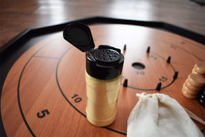 Boards, Accessories, and more! Crokinole Board Game Black / Natural The Crokinole King - 3 In 1 Crokinole Game Set