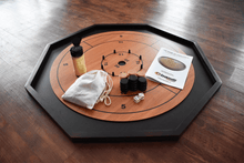 Load image into Gallery viewer, Boards, Accessories, and more! Crokinole Board Game Black / Natural The Crokinole King - 3 In 1 Crokinole Game Set