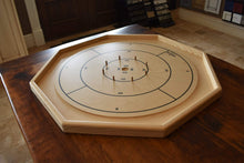 Load image into Gallery viewer, Crokinole Canada (www.crokinole.ca) Crokinole Board Game Black / Natural The Gold Standard - Traditional Crokinole Board Game Set