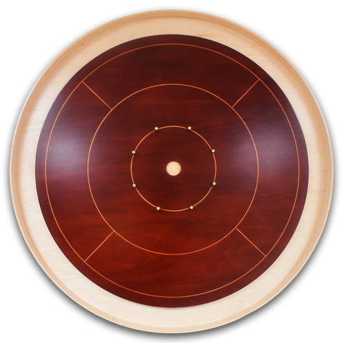 The High Roller Tournament Crokinole Board Game Set - Meets NCA Standards