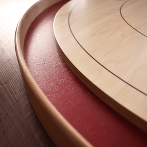 Boards, Accessories, and more! Crokinole Board Game Red / No / No The Tournament Board Kit (Includes Carrying Case & Extras)