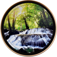 Load image into Gallery viewer, Peaceful Morning Waterfalls - Tournament Crokinole Board Game Set - Meets NCA Standards